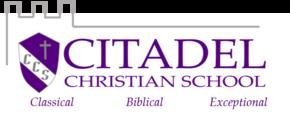 Citadel Christian School Logo