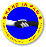 Hand in Paw-Friends of Bossier City Animal Control Logo