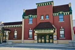 DeWitt Operahouse Theatre supported by the DeWitt Theater Company Logo