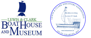 Discovery Expedition of St. Charles/Lewis and Clark Boat House Logo
