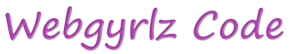 Webgyrlz Code Logo