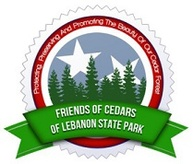 Friends of Cedars of Lebanon State Park Logo