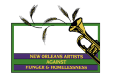 New Orleans Artists Against Hunger and Homelessess Logo